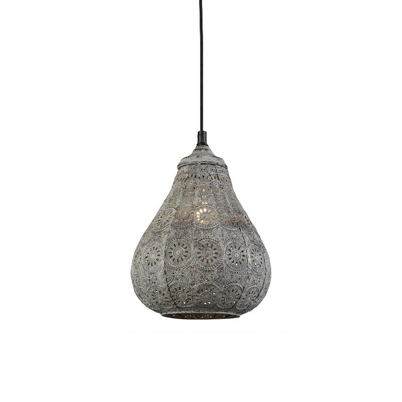 Orientalna lampa wisząca szara - Billa