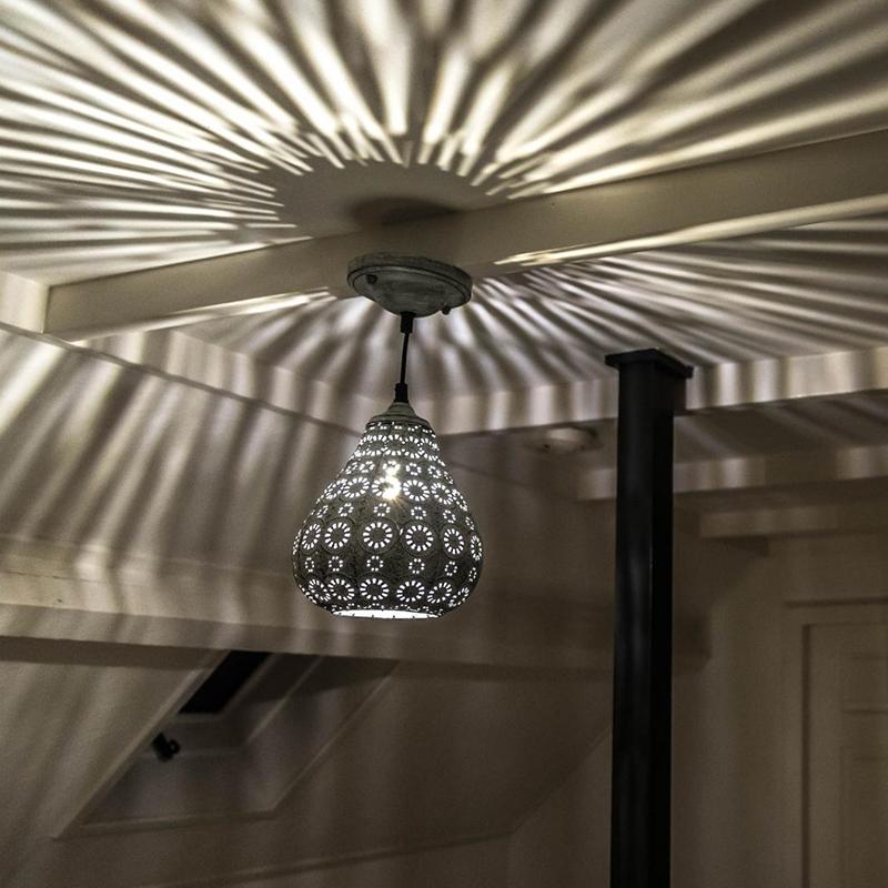 Oosterse hanglamp grijs - Billa