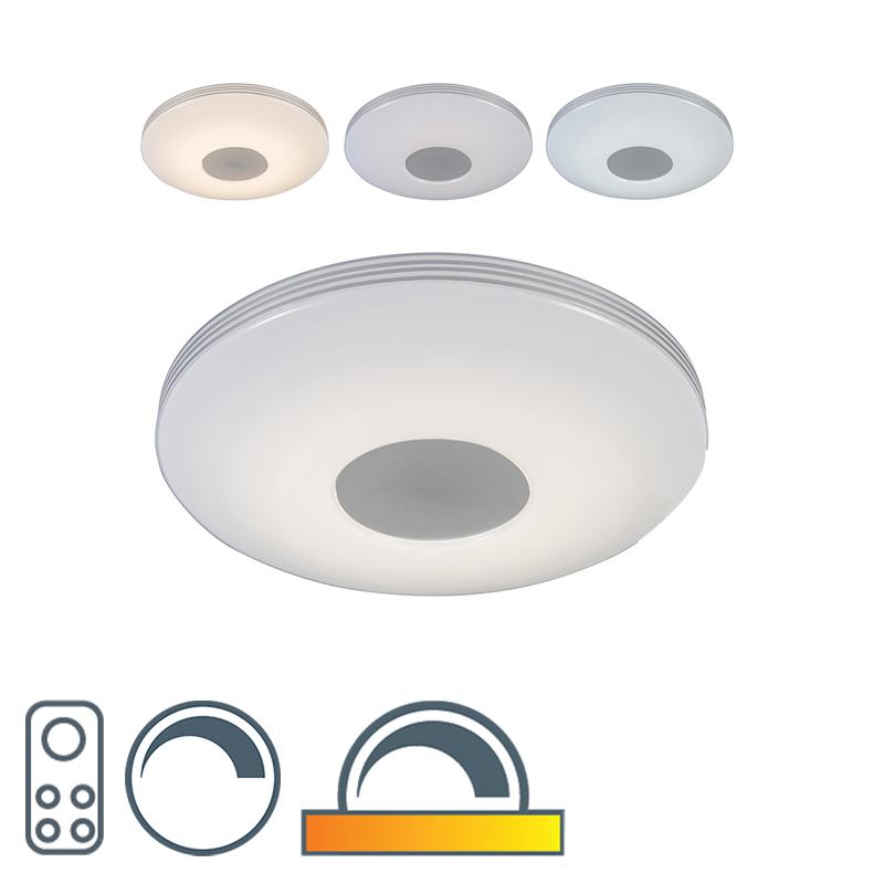 Moderne plafondlamp incl. LED met afstandsbediening Trezetto