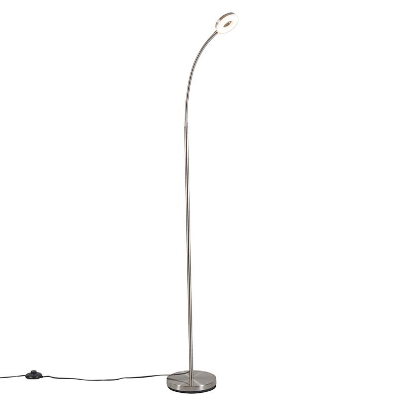 Moderne leeslamp staal met flexibele arm inclusief Led - Crach