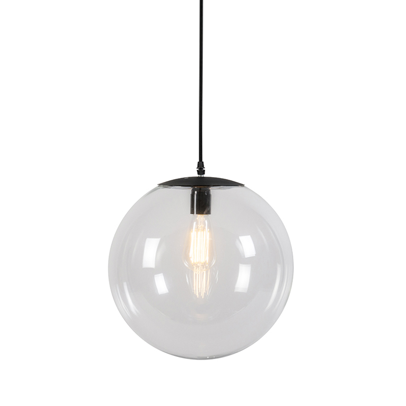 Moderne hanglamp transparant 35 cm - Pallon