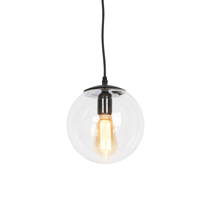Nowoczesna lampa wisząca przezroczysta 20 cm - Pallon