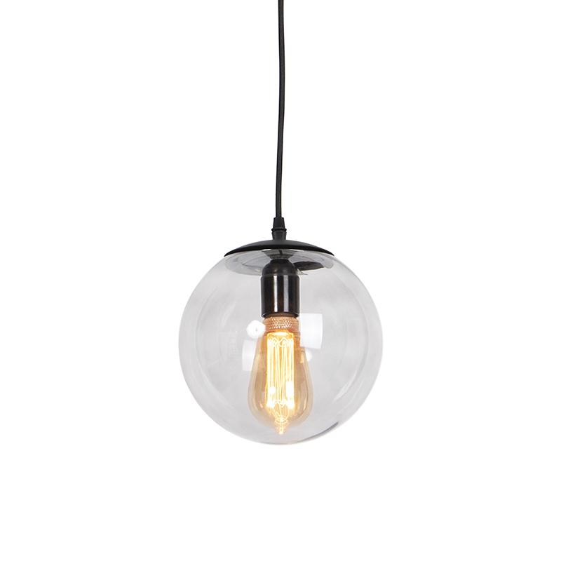Nowoczesna lampa wisząca szara 20cm - Pallon