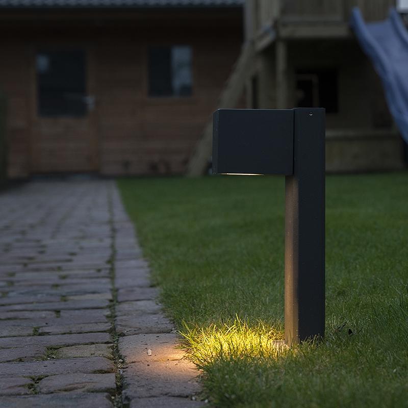 Moderne staande buitenlamp donkergrijs 30cm geschikt voor GU10 - Baleno