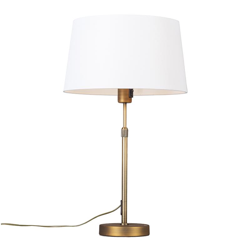 Image of Tafellamp Parte Brons met witte kap