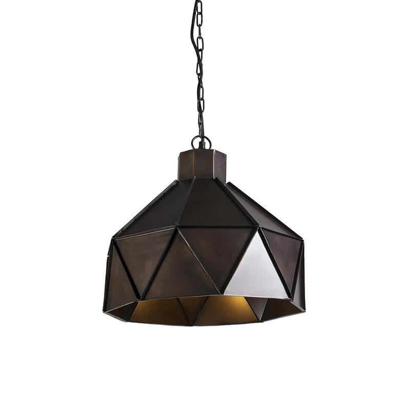Lampa wisząca w stylu art deco miedziana - Triango