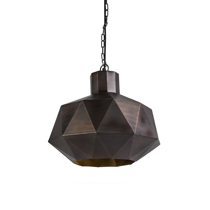Lampa wisząca w stylu art deco miedziana - Trianga