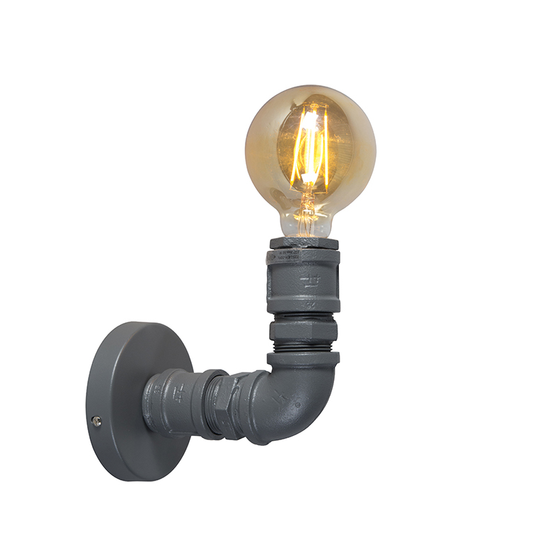 Kinkiet przemysłowy ciemnoszary - hydraulik 1