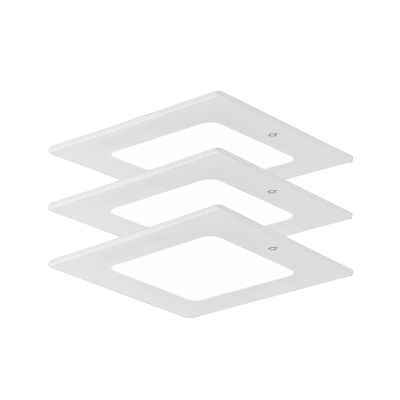 Inbouwspot Radem vierkant 4W set van 3
