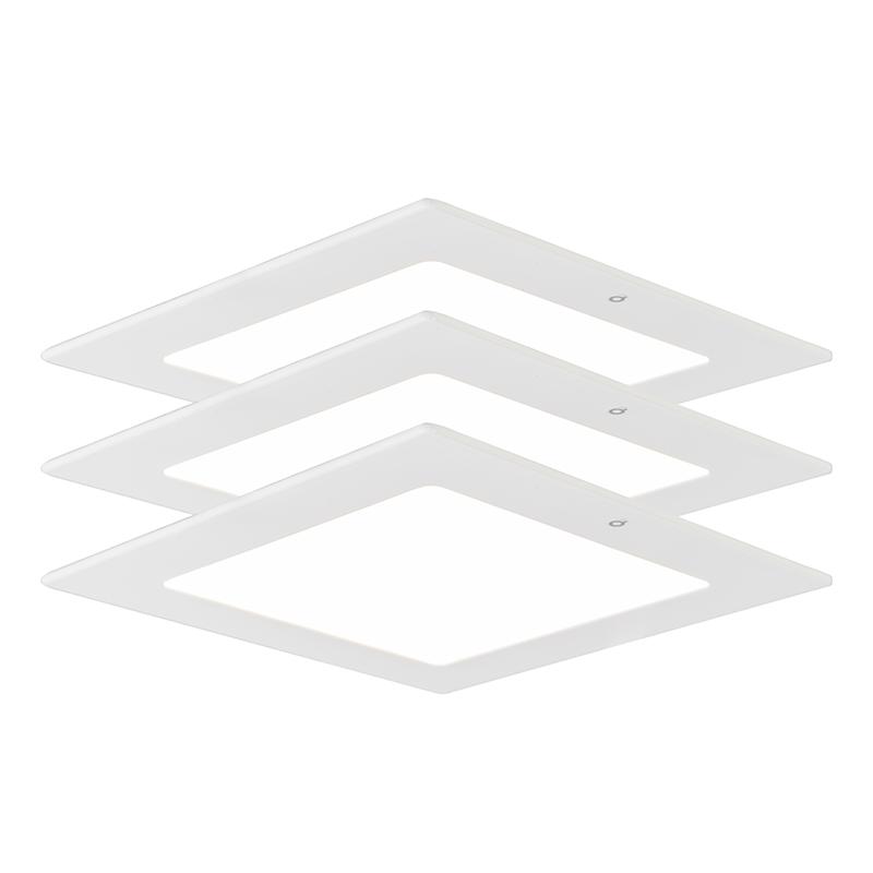 Inbouwspot Radem vierkant 9W set van 3