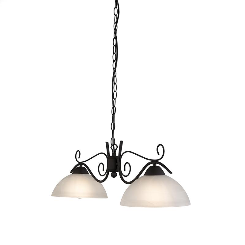 Hanglamp Dallas 2 donker roestbruin
