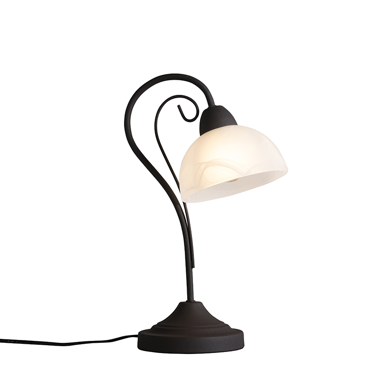 Tafellamp Dallas 1 roestbruin