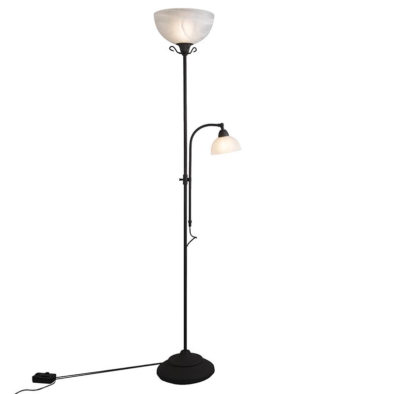Vloerlamp Dallas 2 roestbruin