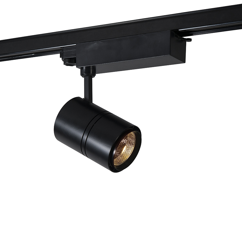 Dimbare 3-fase railspot zwart incl. LED 3000K - Ruler 38