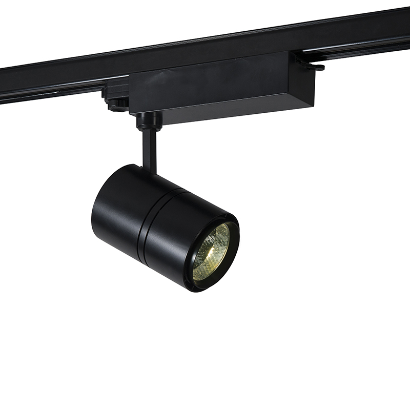 Dimbare 3-fase Railspot Zwart Incl. Led 4000k - Ruler 38