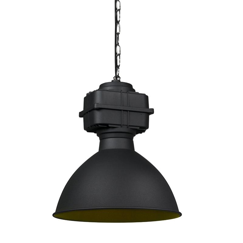 Przemysłowa lampa wisząca mała matowa czarna - Sicko