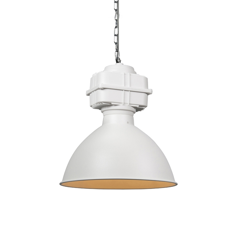 Industri�le hanglamp klein mat wit - Sicko