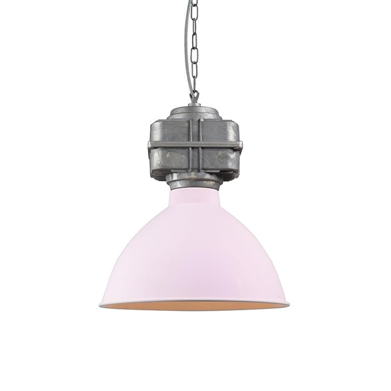 Przemysłowa lampa wisząca mała matowa różowa - Sicko
