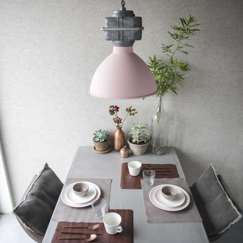 Industri�le hanglamp klein mat roze - Sicko