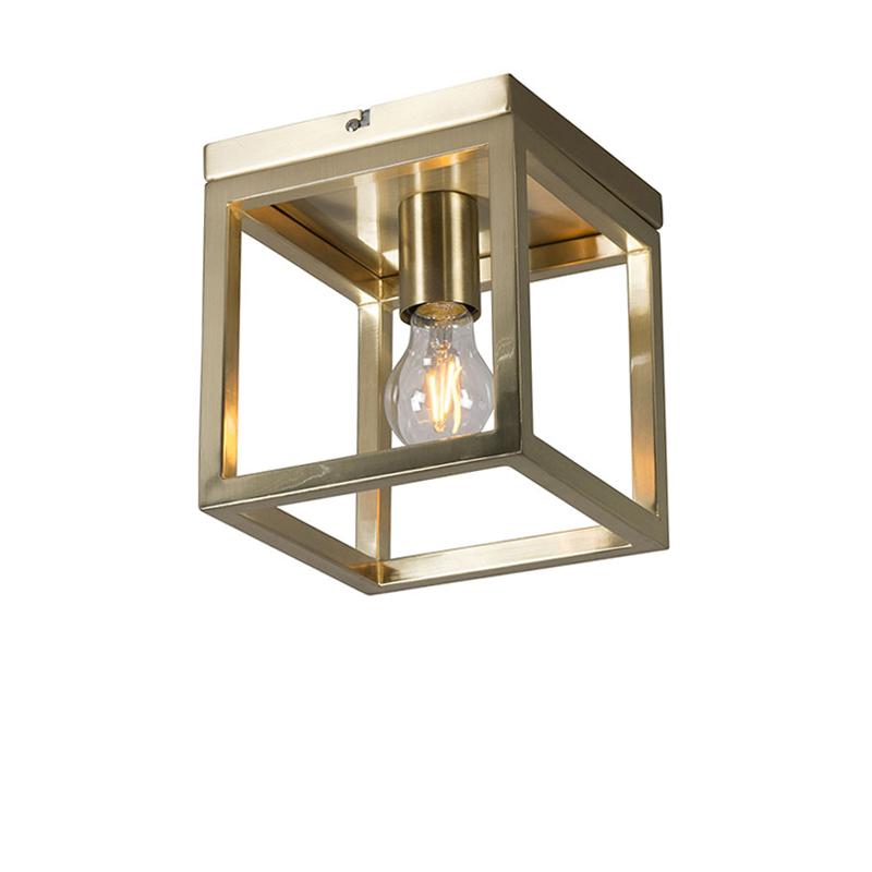 Plafondlamp Cage 1 goud