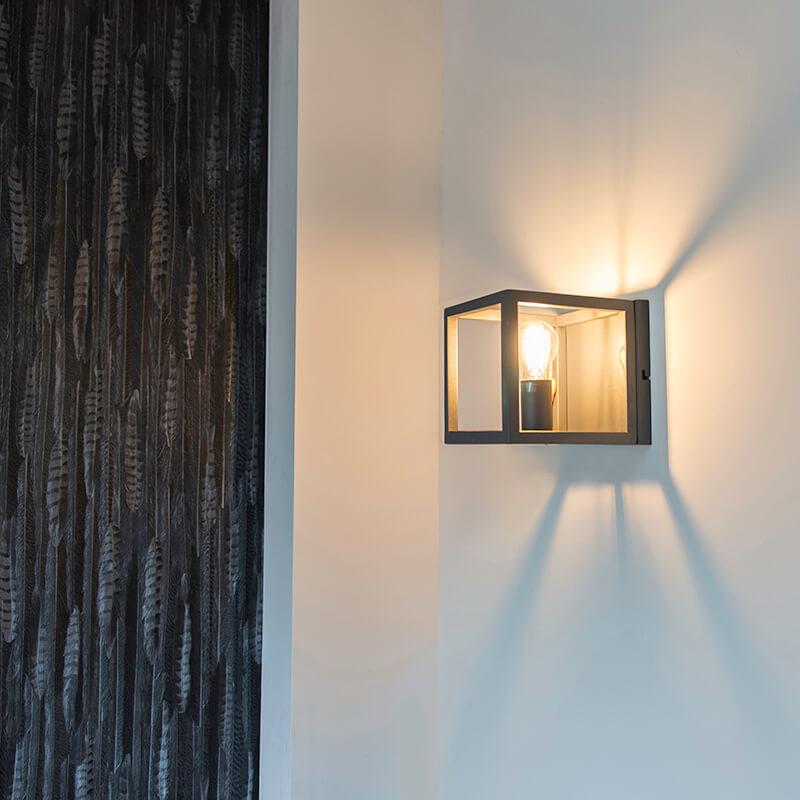 Industrialny kinkiet szary 1-źródło światła - Cage