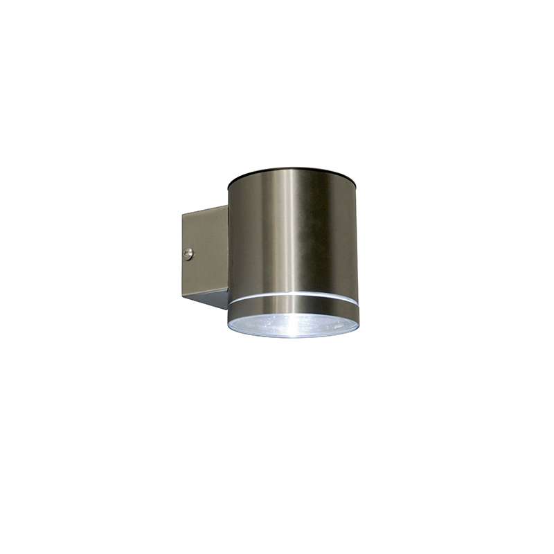Buitenwandlamp staal incl. LED op zonne-energie IP44 - Eta