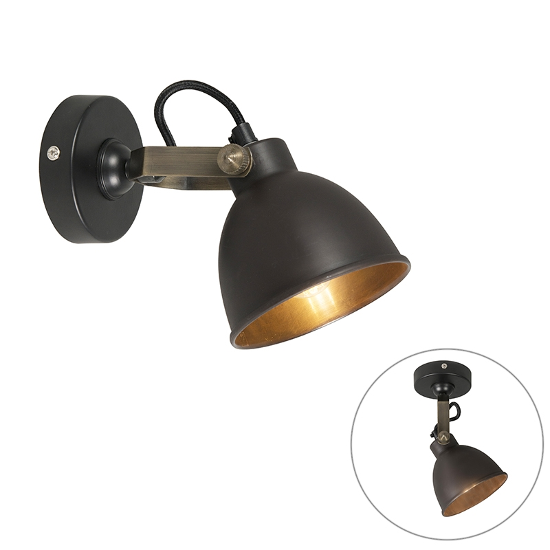 Industriele wandlamp messing - Liko