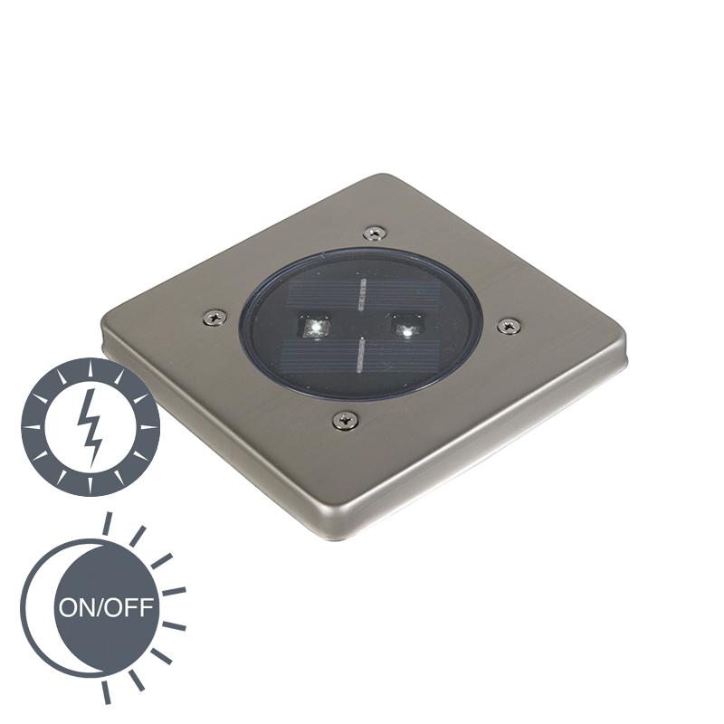 Nowoczesny zewnętrzny spot solarny z kwadratową diodą LED - Erda