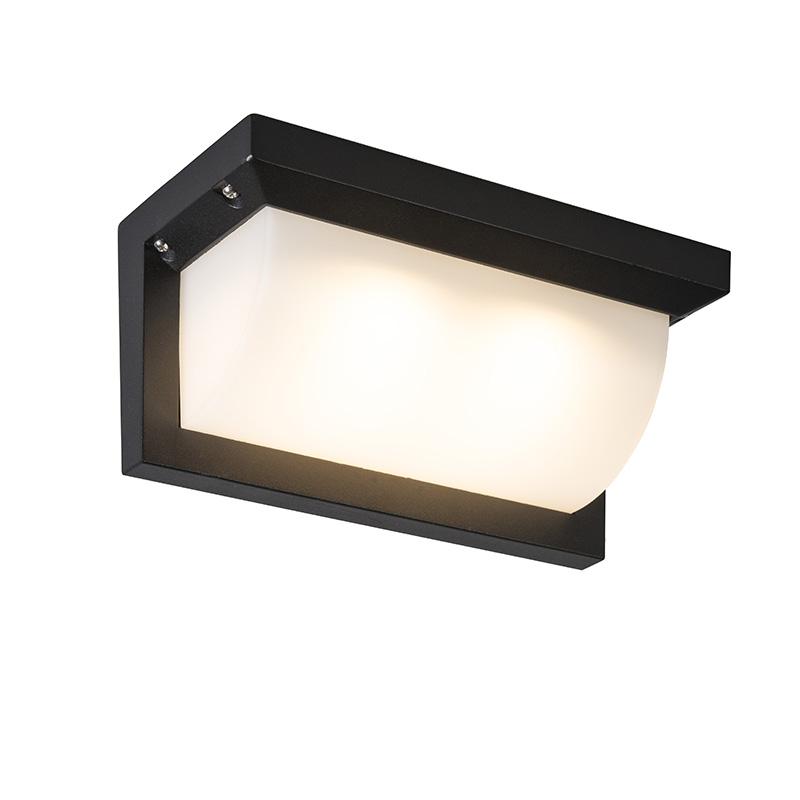 Buitenlamp Lightsome LED zwart met wit