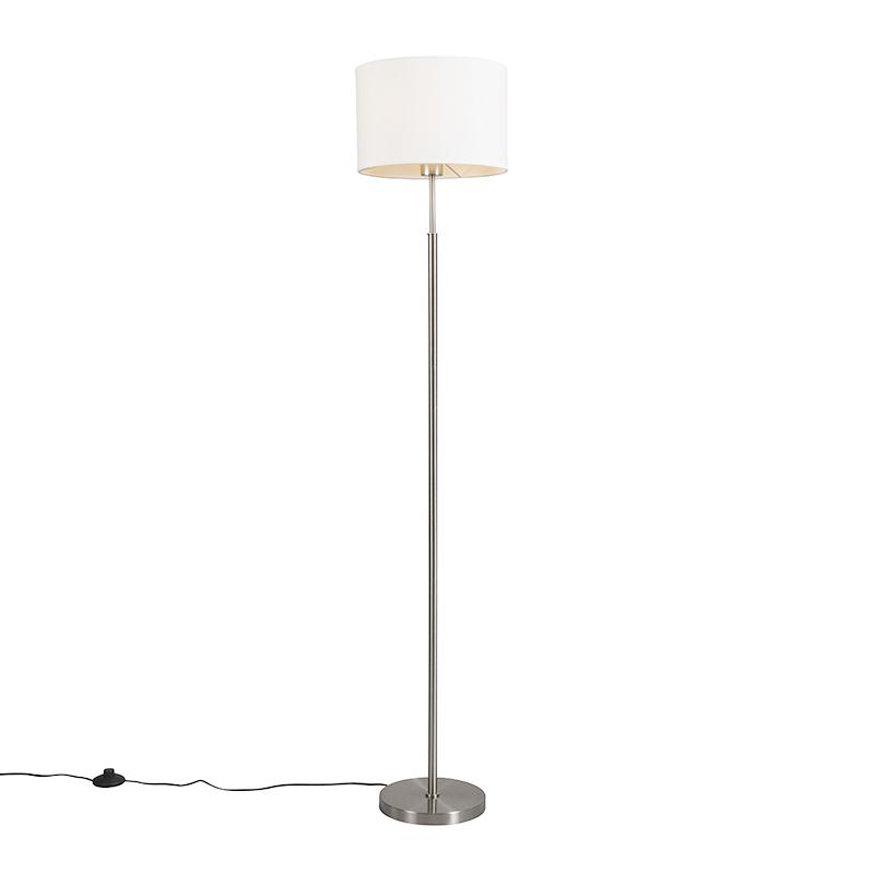 Moderne vloerlamp wit rond - VT 1