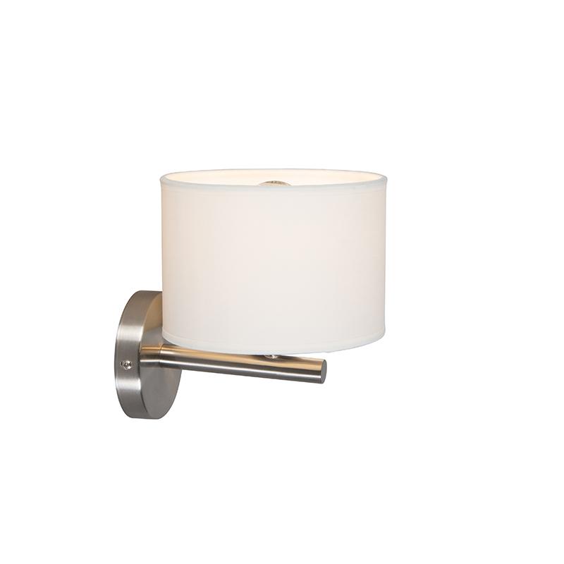 Moderne wandlamp wit rond - VT 1