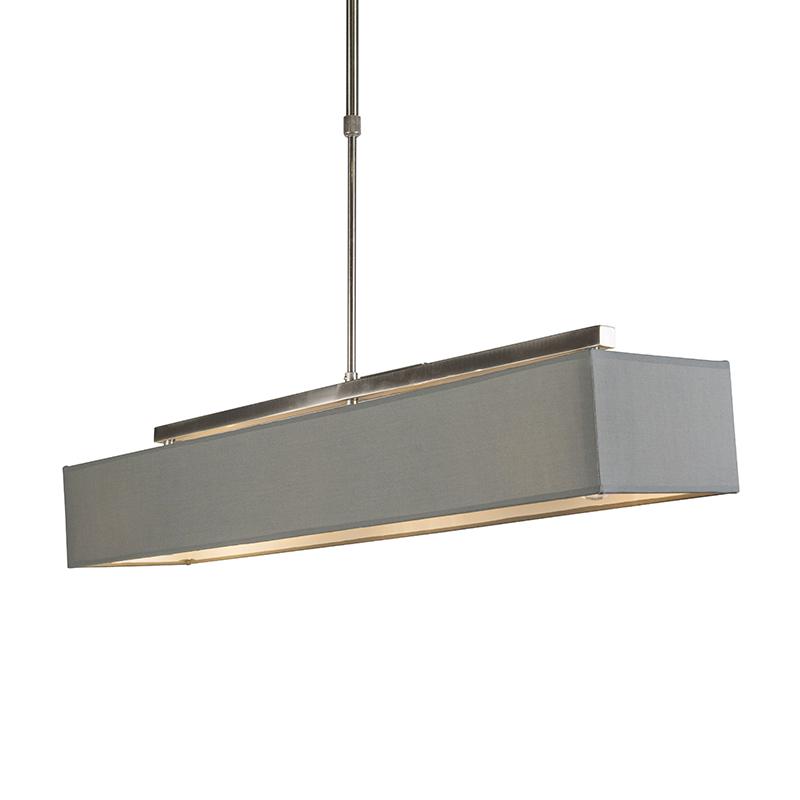 Nowoczesna lampa wisząca szara podłużna 3-źródła światła - VT
