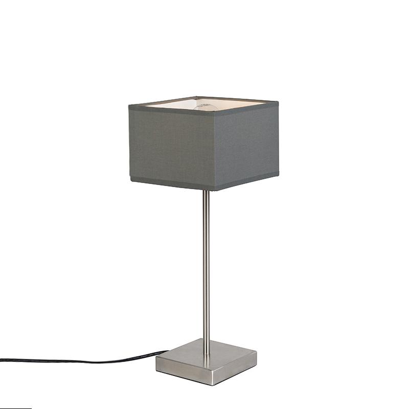 Moderne tafellamp grijs - VT 1
