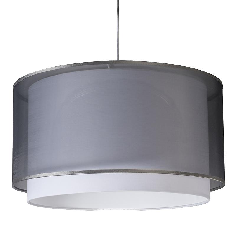 Nowoczesna lampa wisząca z abażurem czarno / białym 47/25 - Duo