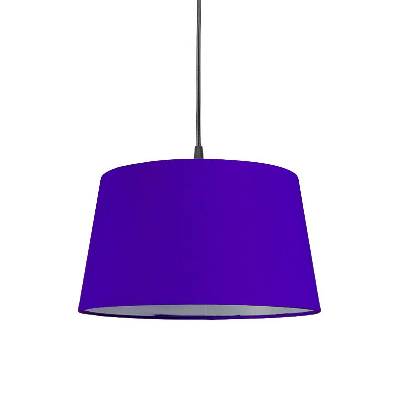 Hanglamp met kap paars rond 30cm