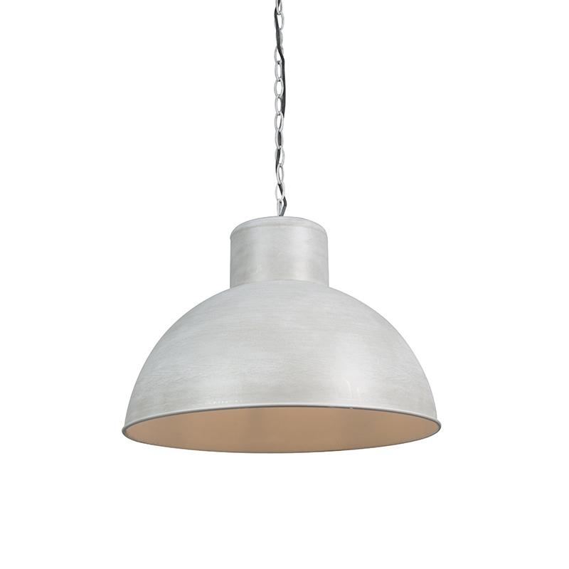 Hanglamp Map grijs met witte binnenkant