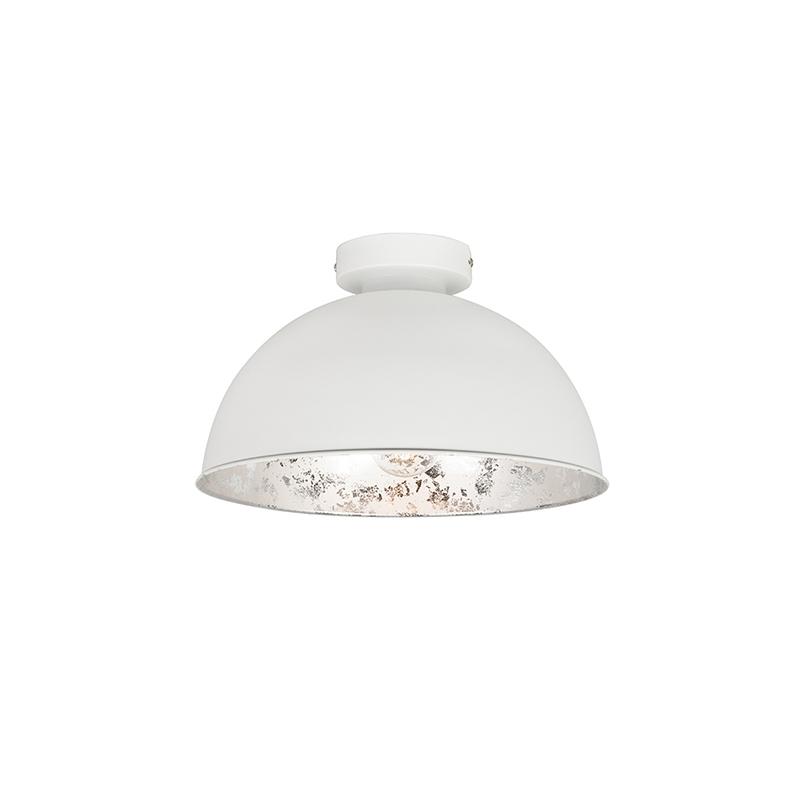 Plafondlamp Magna Basic 30 Mat Wit Met Zilveren Binnenkant