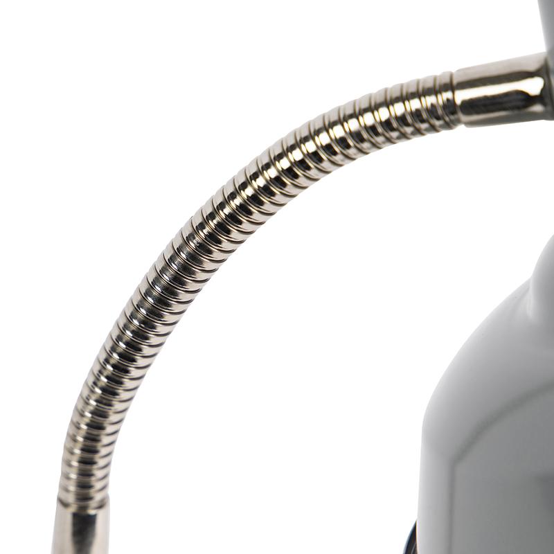 Industriële tafellamp grijs verstelbaar - Pixa