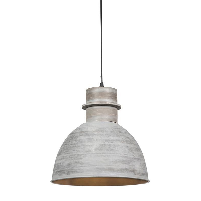 Set van 3 landelijke hanglampen grijs - Dory