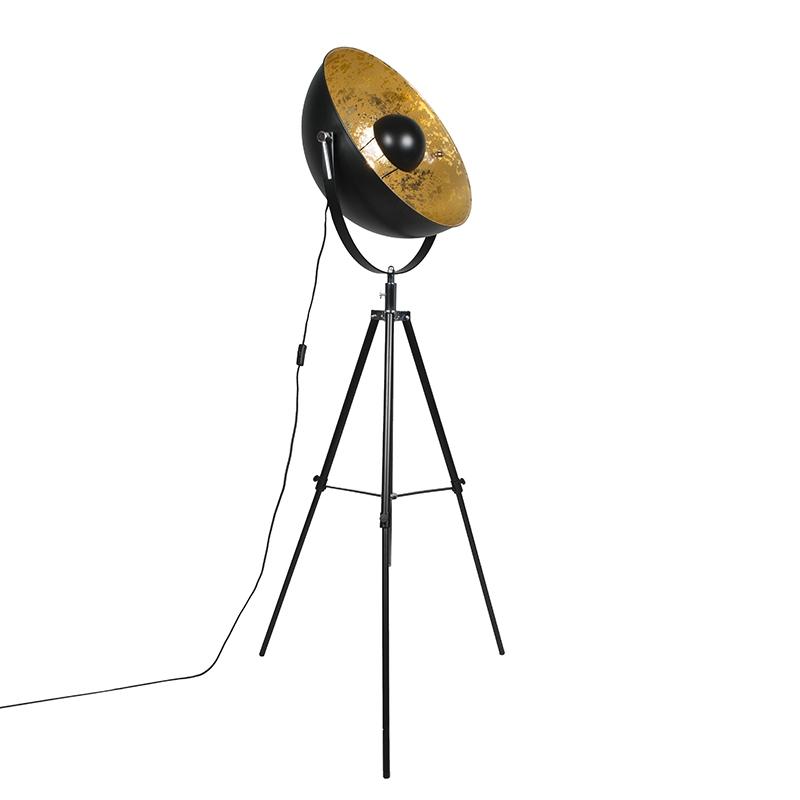 Lámpara de pie industrial trípode negro - Magna 50 Eglip