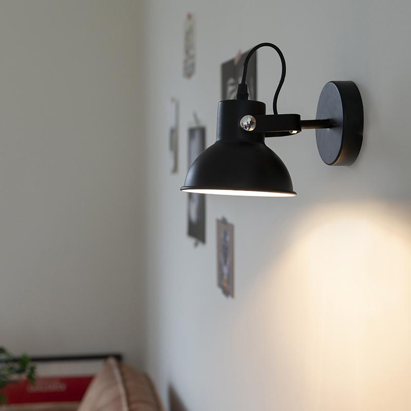 Wandlamp Guida Mat Zwart