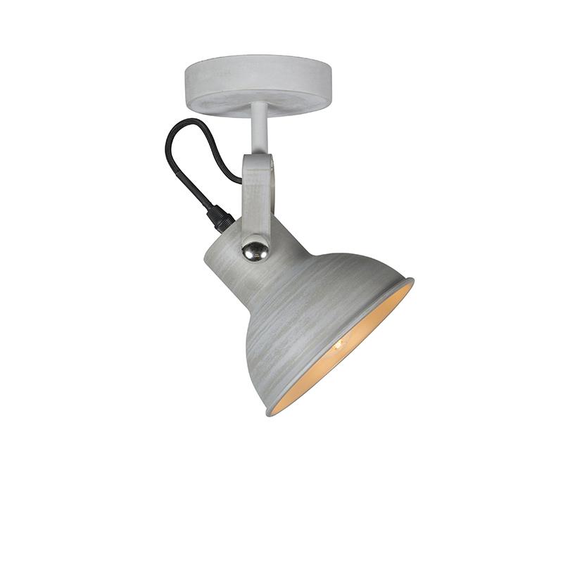 Przemysłowa lampa ścienna i sufitowa szara uchylna - Guida