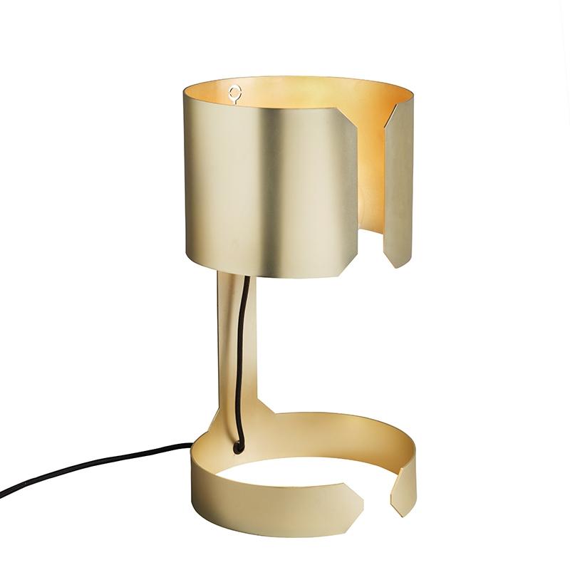 Designerska lampa stołowa złota - Waltz