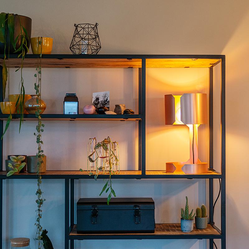 Design tafellamp mat koper - Waltz