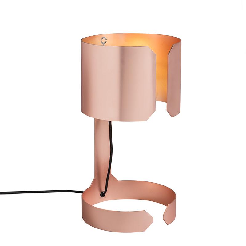 Designerska lampa stołowa miedź - Waltz