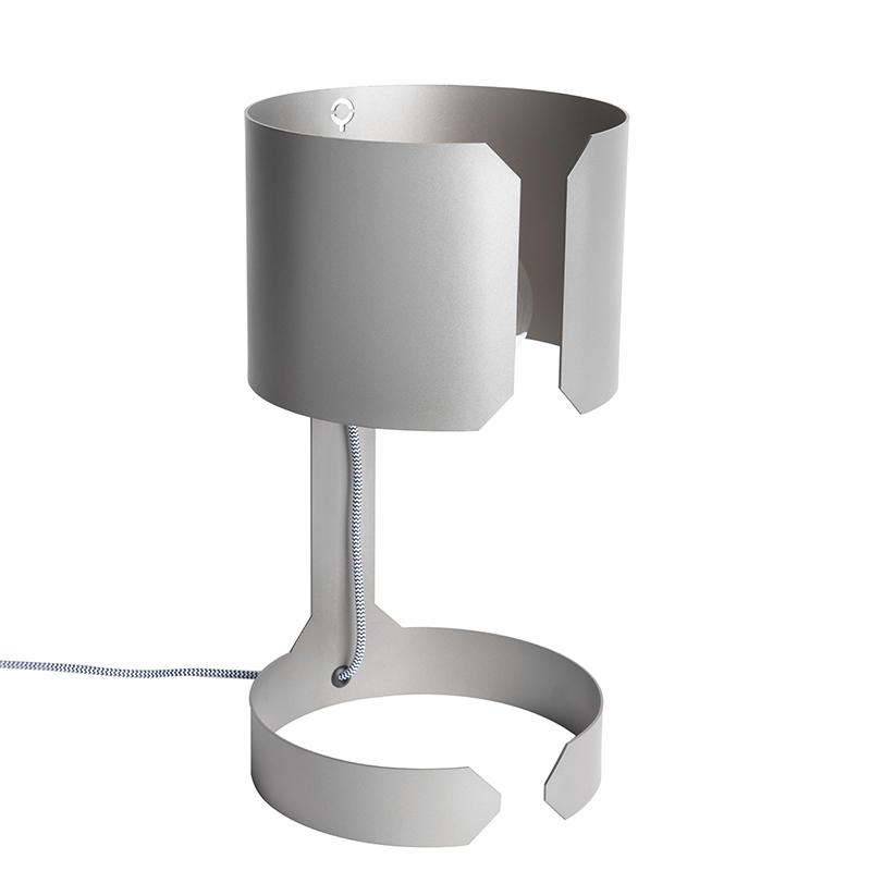 Designerska lampa stołowa stal - Waltz
