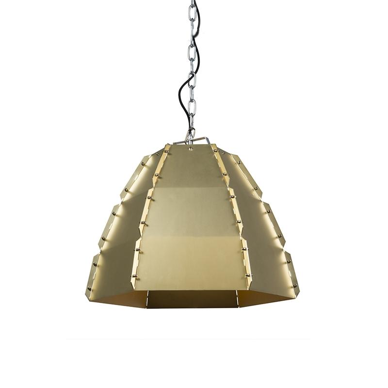 Designerska lampa wisząca złoto/mosiądz - Niro