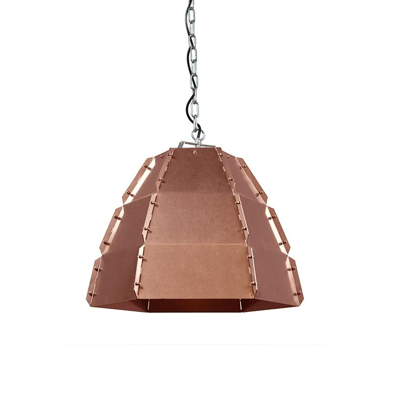 Designerska lampa wisząca miedź - Niro