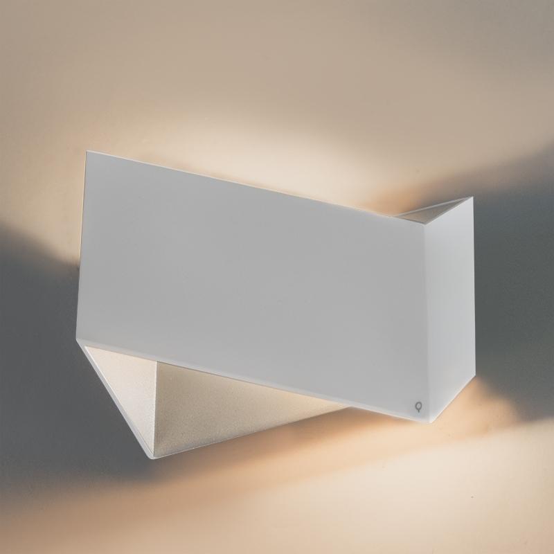 Designerski kinkiet biały - Fold