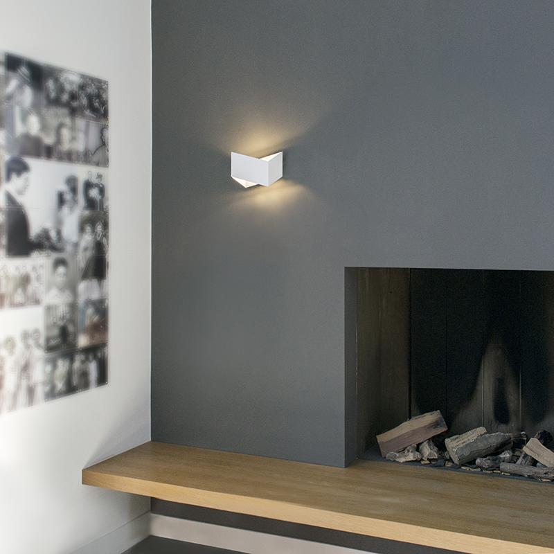 Design wandlamp wit - Fold
